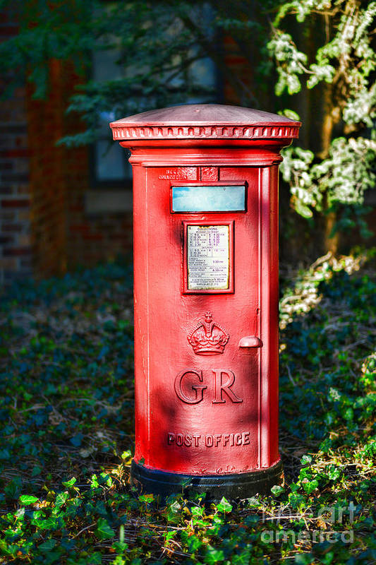 Paul Ward Poster featuring the photograph British Mail Box by Paul Ward