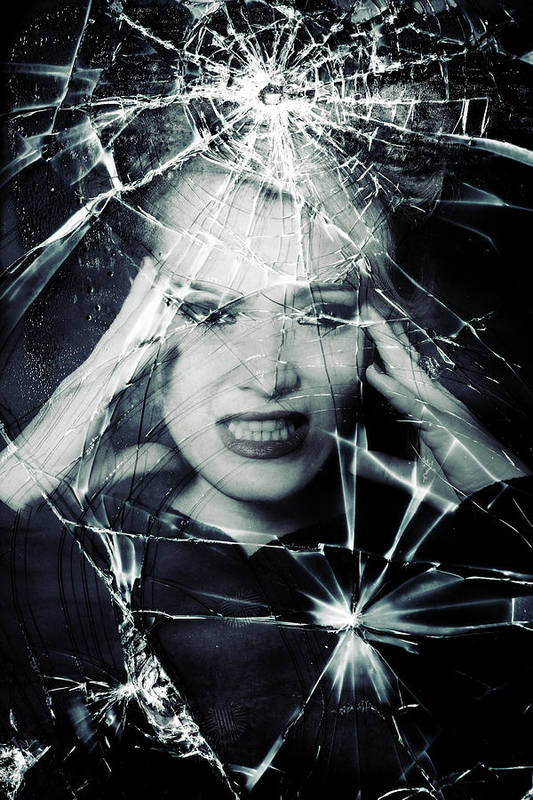 Woman Poster featuring the photograph Broken Window by Joana Kruse