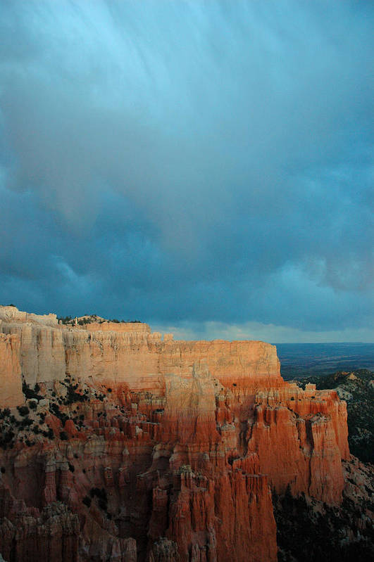 Poster featuring the photograph Bryce Canyon And Stormy Sky by Bruce Gourley