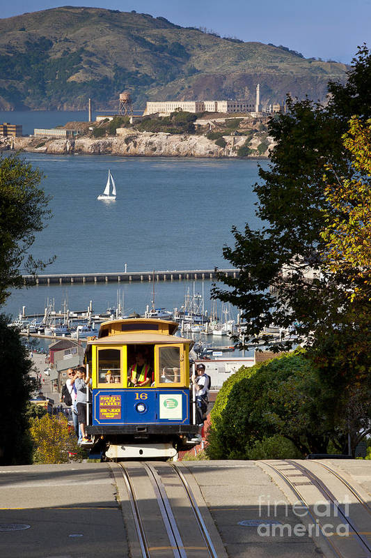 Cable Poster featuring the photograph Cable Car In San Francisco by Brian Jannsen