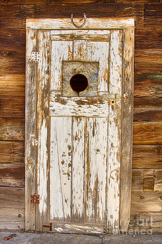 Doors Poster featuring the photograph Classic Rustic Rural Worn Old Barn Door by James BO Insogna