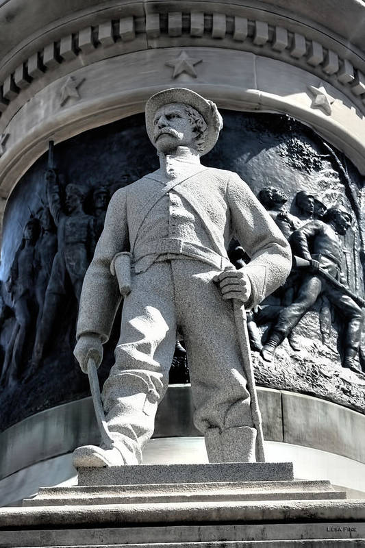 Confederate Poster featuring the photograph Confederate Soldier II Alabama State Capitol by Lesa Fine