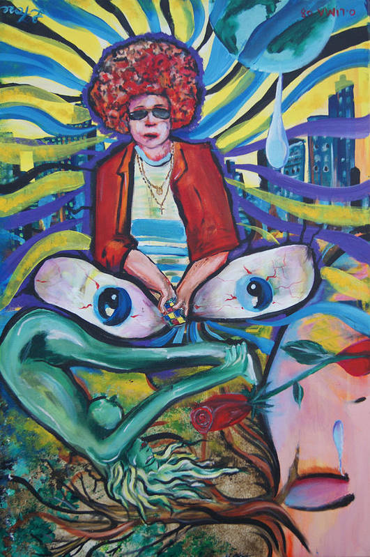 Life Poster featuring the painting Contemplation Of Life by Lorinda Fore and Tony Lima