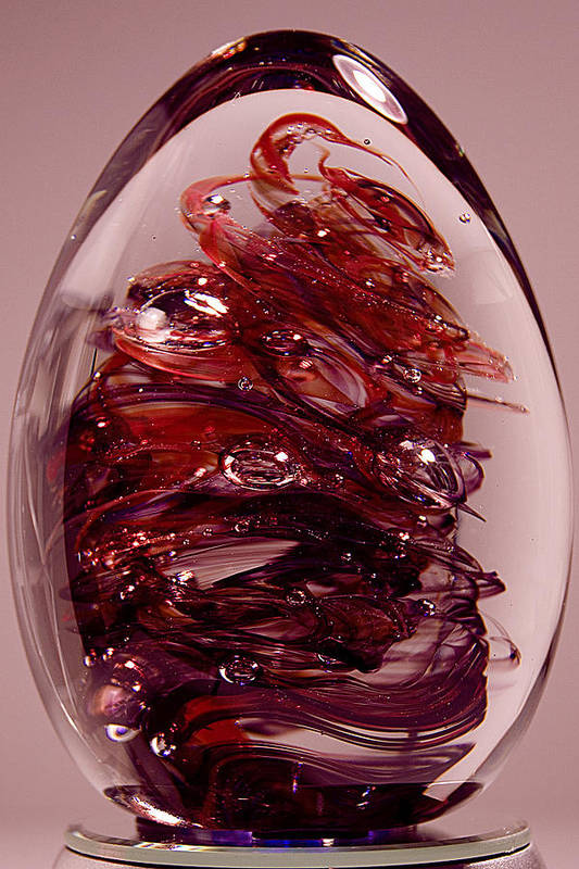 Glass Poster featuring the sculpture Deep Reds II Pre1 by David Patterson