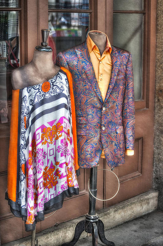 Jackson Square Poster featuring the photograph Finery For Sale by Brenda Bryant