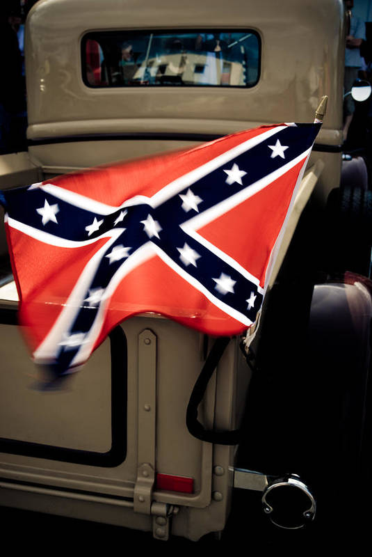 Confederate Flag Poster featuring the photograph Flying The Flag by Phil 'motography' Clark