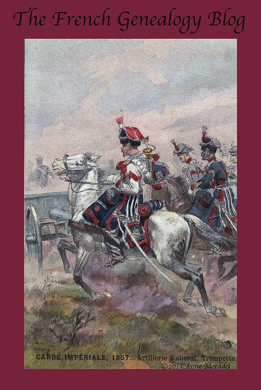 France Poster featuring the photograph Garde Imperiale 1857 With Fgb Border by A Morddel