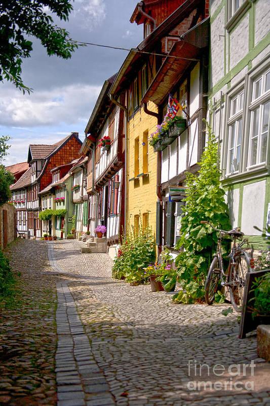 Quedlinburg Poster featuring the photograph German Old Village Quedlinburg by Heiko Koehrer-Wagner