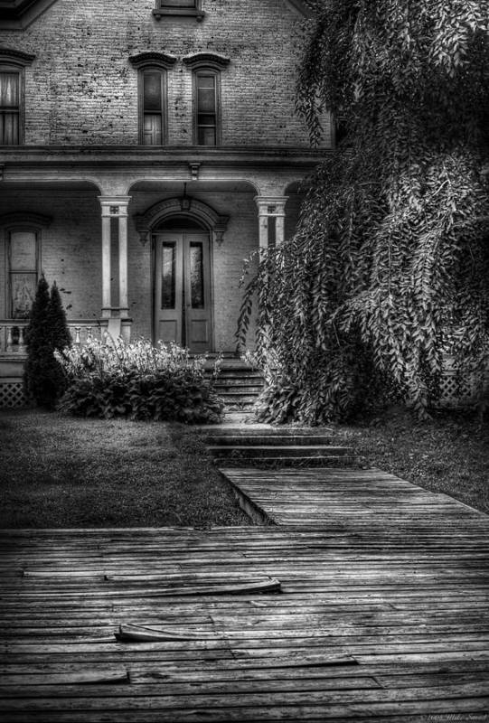 Savad Poster featuring the photograph Haunted - Haunted II by Mike Savad