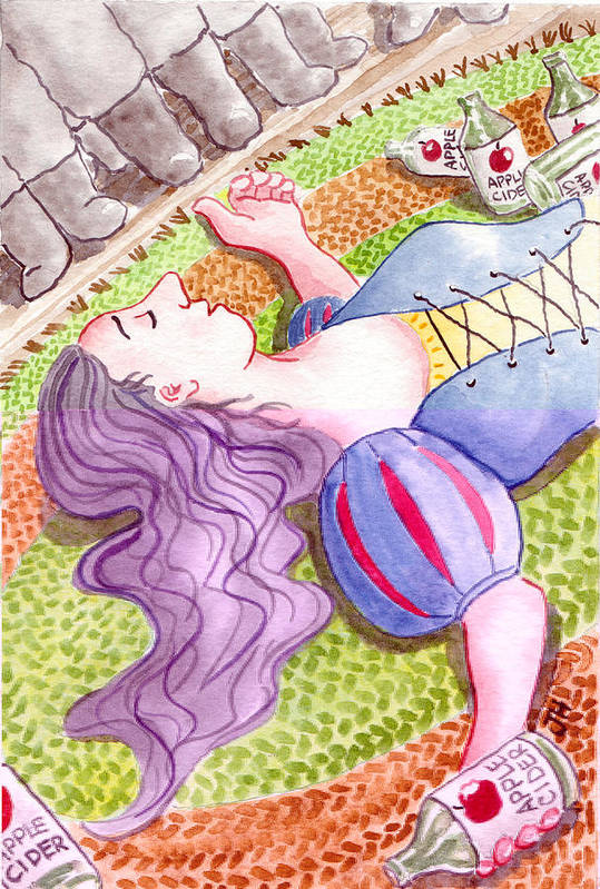 Watercolour Poster featuring the painting Hi Ho Hi Ho by Julie Hutchinson