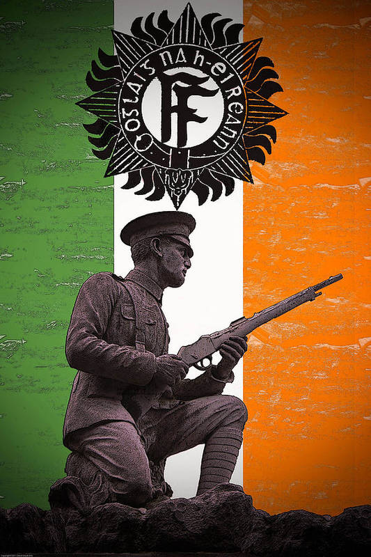 1916 Volunteer Poster featuring the photograph Irish 1916 Volunteer by David Doyle