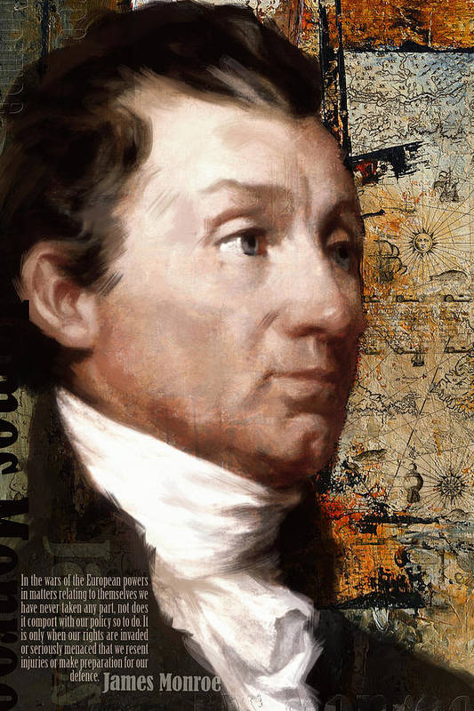 President Of The United States Poster featuring the painting James Monroe by Corporate Art Task Force