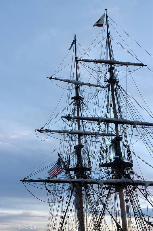 Washington Poster featuring the photograph Lady Washington's Masts by Heidi Smith