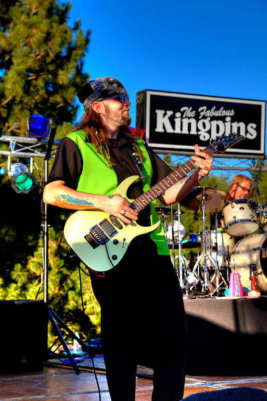 The Kingpins Poster featuring the photograph Lead Guitarist Jimmy Dence - The Fabulous Kingpins by David Patterson
