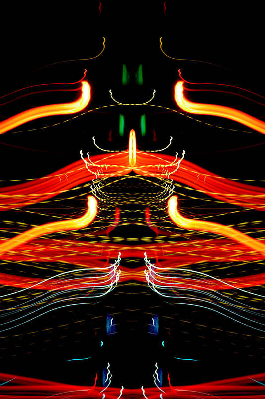 Abstract Poster featuring the photograph Light Fantastic 39 by Natalie Kinnear