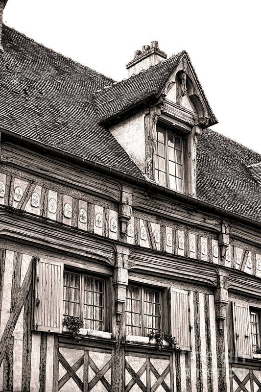 France Poster featuring the photograph Medieval House by Olivier Le Queinec