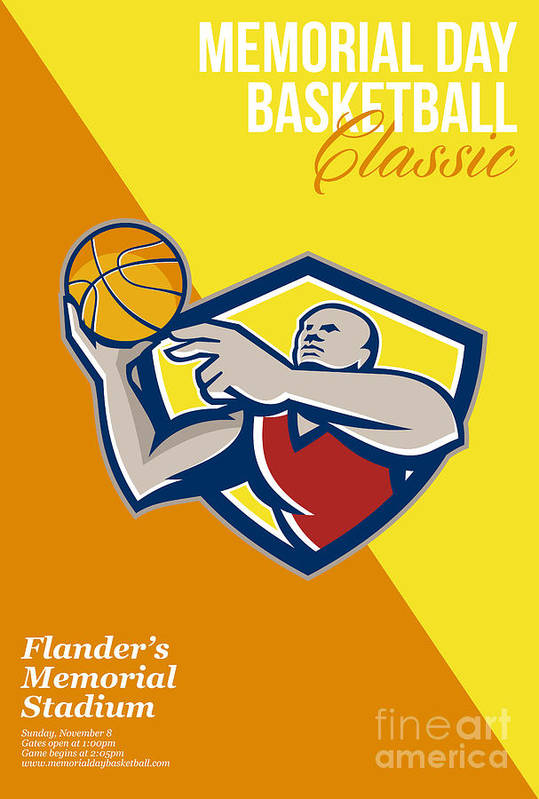 Basketball Poster featuring the digital art Memorial Day Basketball Classic Poster by Aloysius Patrimonio