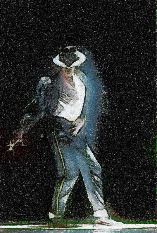 Michael Jackson Poster featuring the painting Michael Jackson by Georgi Dimitrov