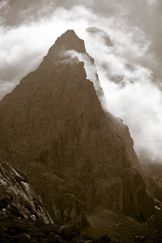 Mountainscape Poster featuring the photograph Mountainscape by Frank Tschakert