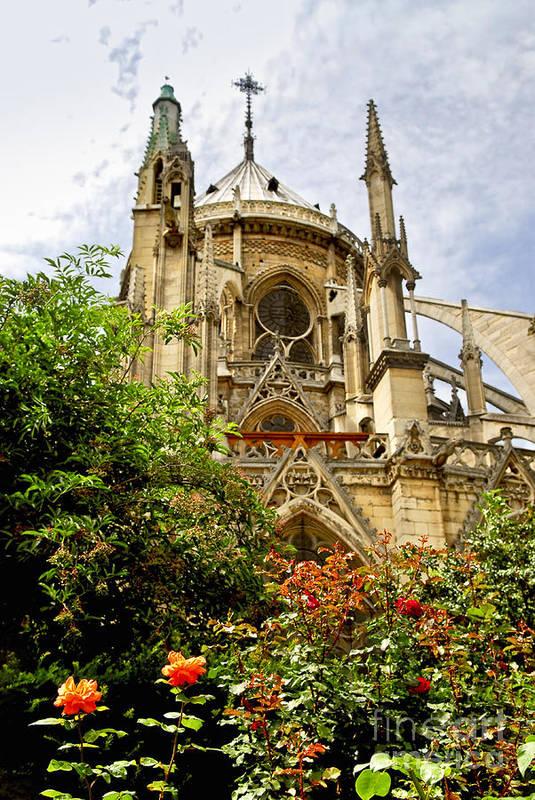 Notre Poster featuring the photograph Notre Dame De Paris by Elena Elisseeva