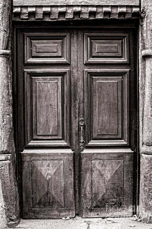 Door Poster featuring the photograph Old Door by Olivier Le Queinec