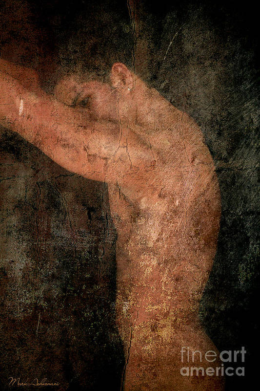 Male Nude Art Poster featuring the photograph Old Story by Mark Ashkenazi