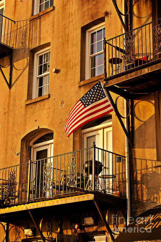 American Flag Poster featuring the photograph Patriotic by M Glisson