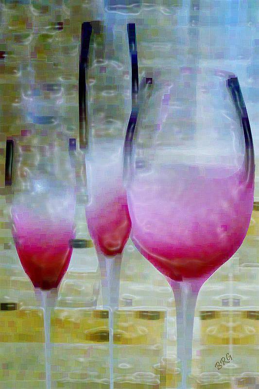 Pink Drink Poster featuring the digital art Pink Summer by Ben and Raisa Gertsberg
