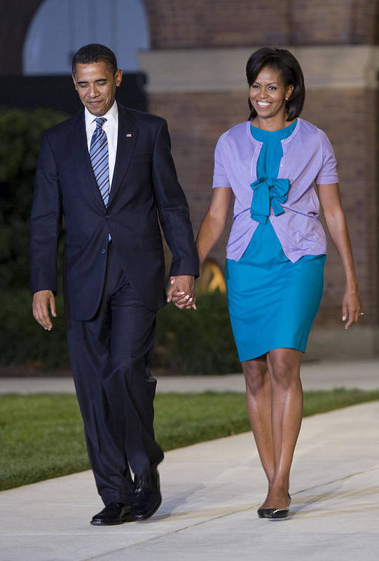 Marine Parade Poster featuring the photograph President And First Lady by JP Tripp