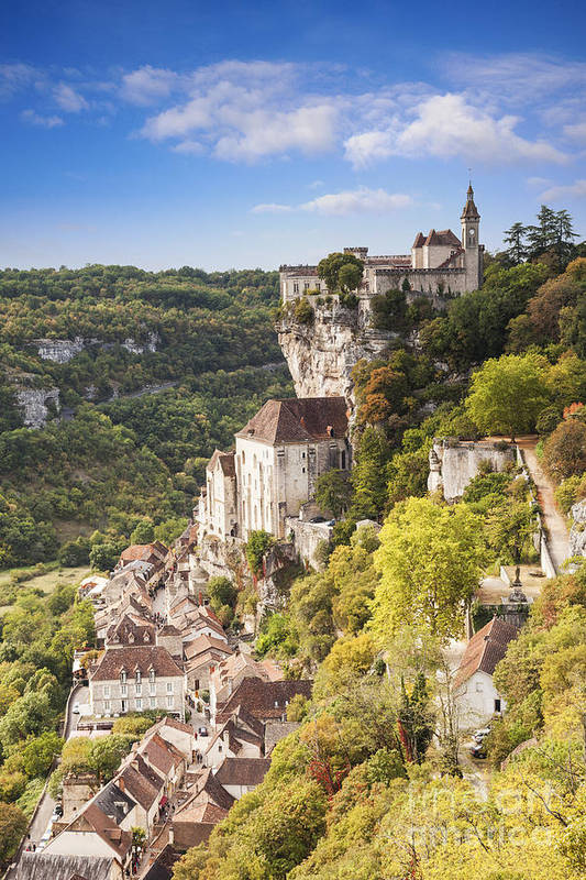 Autumn Poster featuring the photograph Rocamadour Midi-pyrenees France by Colin and Linda McKie
