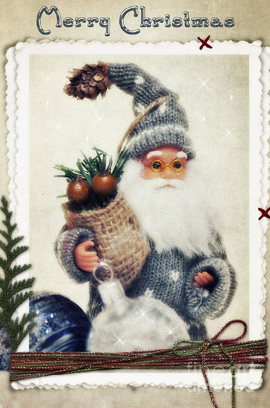 Christmas Poster featuring the photograph Santa Claus by Angela Doelling AD DESIGN Photo and PhotoArt