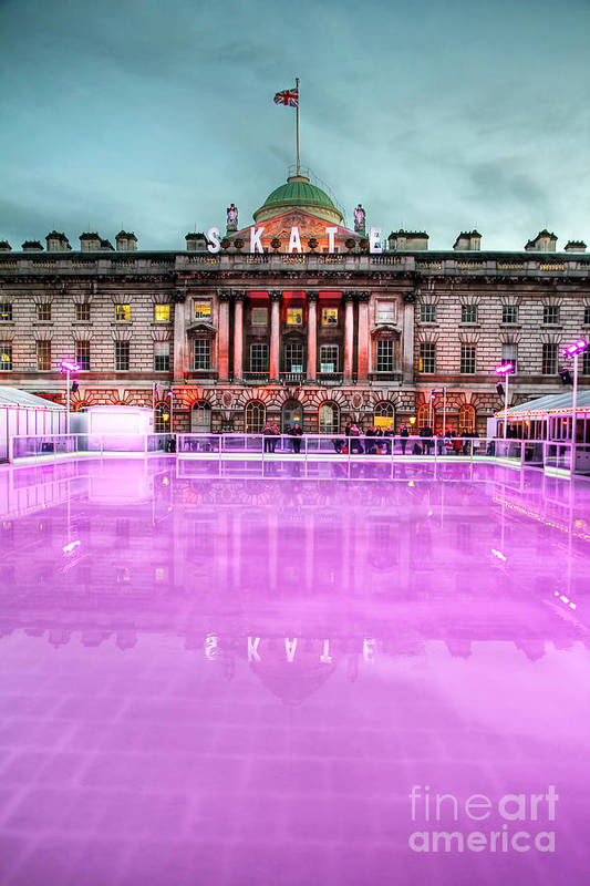 Ice Rink Poster featuring the photograph Skating At Somerset House by Jasna Buncic