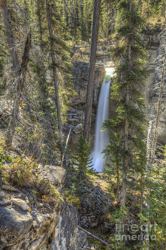 Stanley Falls Poster featuring the photograph Stanley Falls At Beauty Creek by Brian Stamm