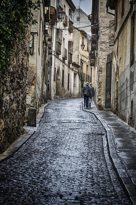 Joan Carroll Poster featuring the photograph Streets Of Segovia by Joan Carroll