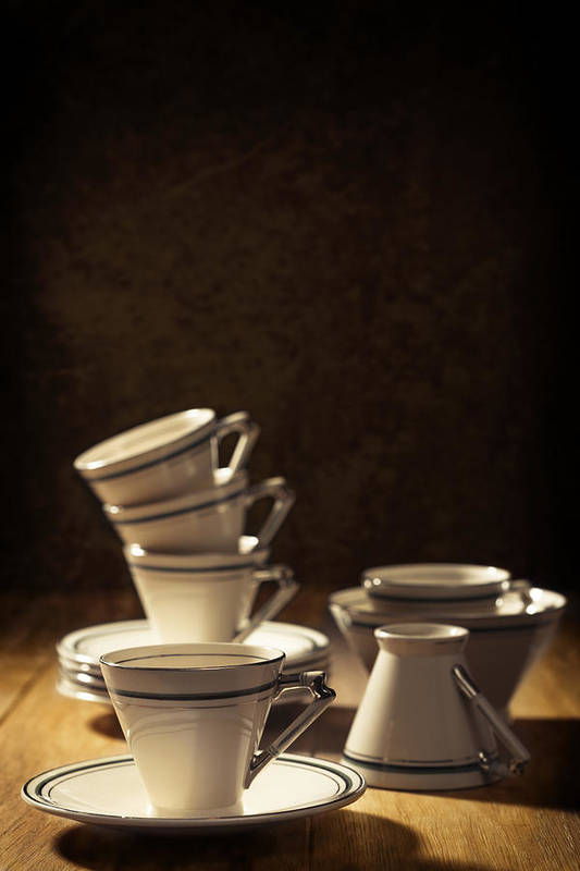 Stack Poster featuring the photograph Teacups by Amanda And Christopher Elwell