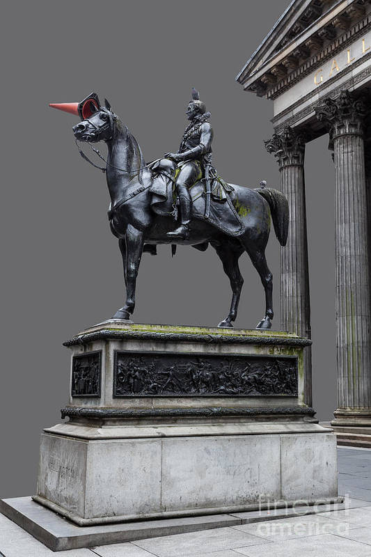 Art Poster featuring the photograph The Duke Of Wellington Goma Grey by John Farnan