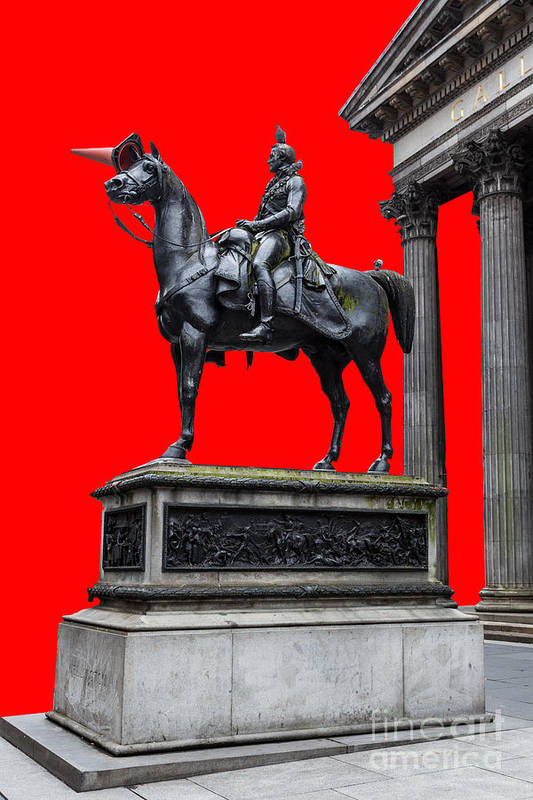 Art Poster featuring the photograph The Duke Of Wellington Red by John Farnan