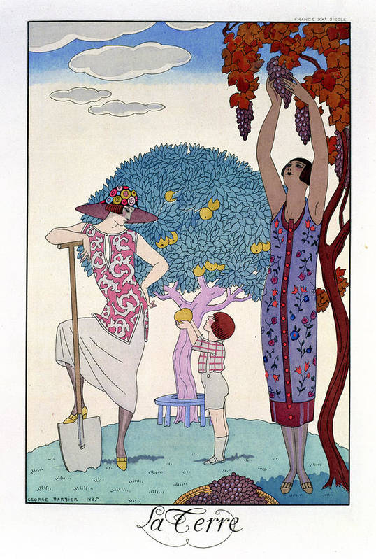 Print Poster featuring the painting The Earth by Georges Barbier
