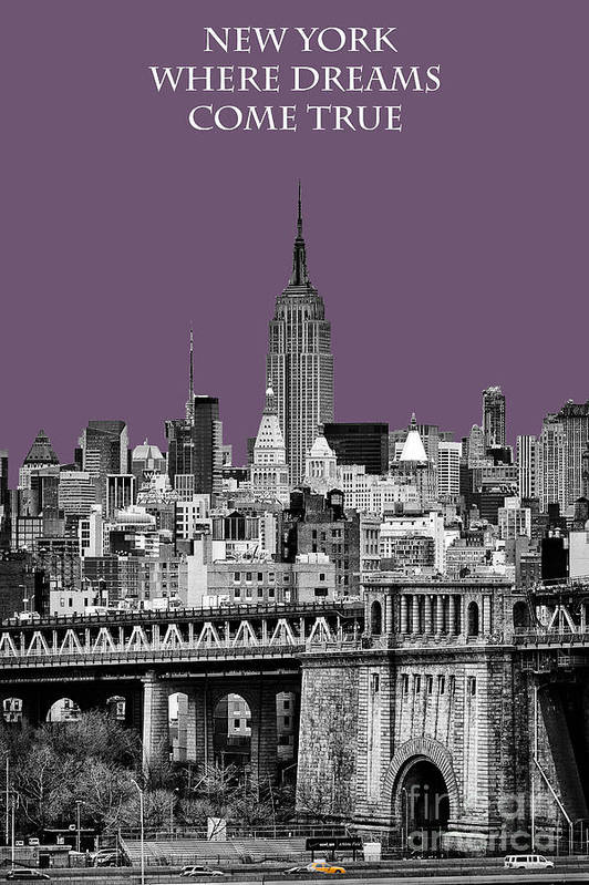 New York Canvas Poster featuring the photograph The Empire State Building Plum by John Farnan
