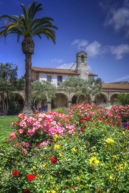 California Missions Poster featuring the photograph The Mission by Joan Carroll