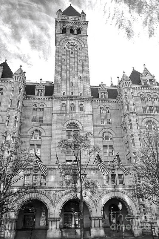 Washington Poster featuring the photograph The Old Post Office by Olivier Le Queinec