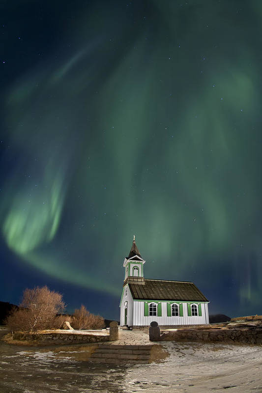 Aurora Poster featuring the photograph The Spirit Of Iceland by Evelina Kremsdorf