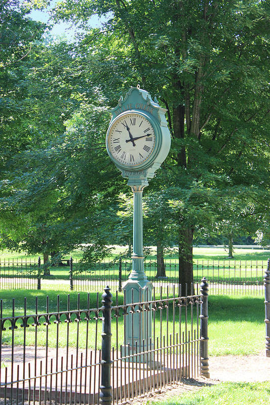 Familyfourphoto Poster featuring the photograph The Town's Clock by Brenda Donko