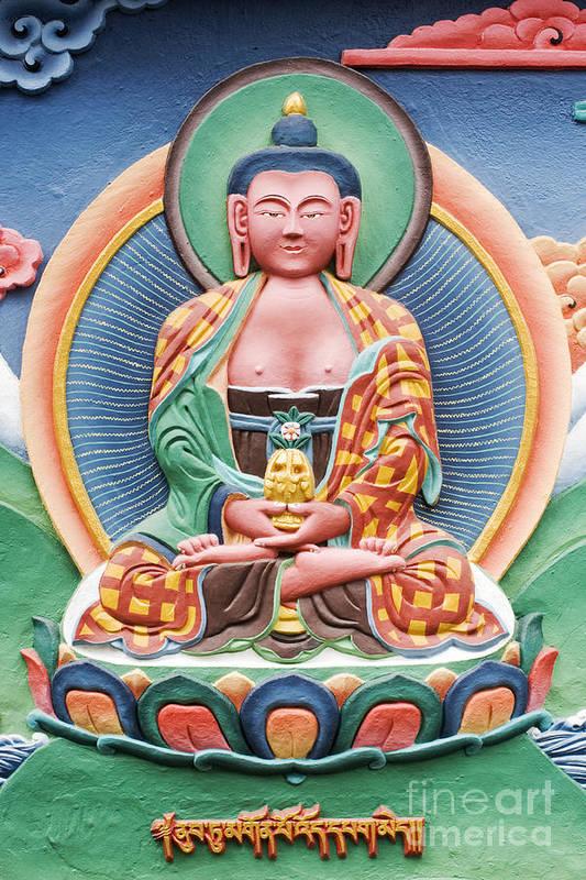 Buddha Poster featuring the photograph Tibetan Buddhist Deity Sculpture by Tim Gainey
