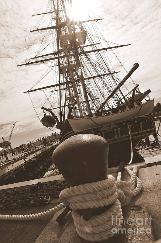 Boston Ma Poster featuring the photograph Uss Constitution by Catherine Reusch Daley