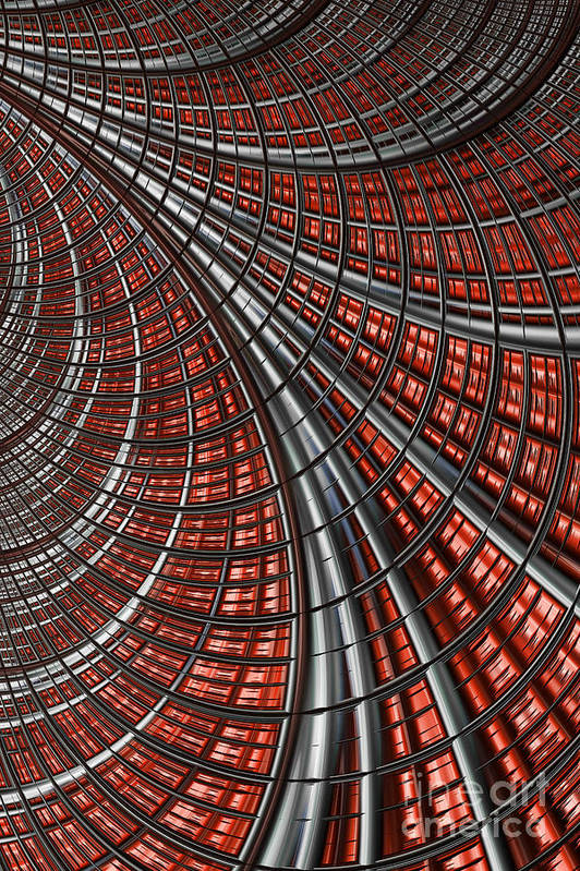 Warp Core Abstract Poster featuring the digital art Warp Core by John Edwards