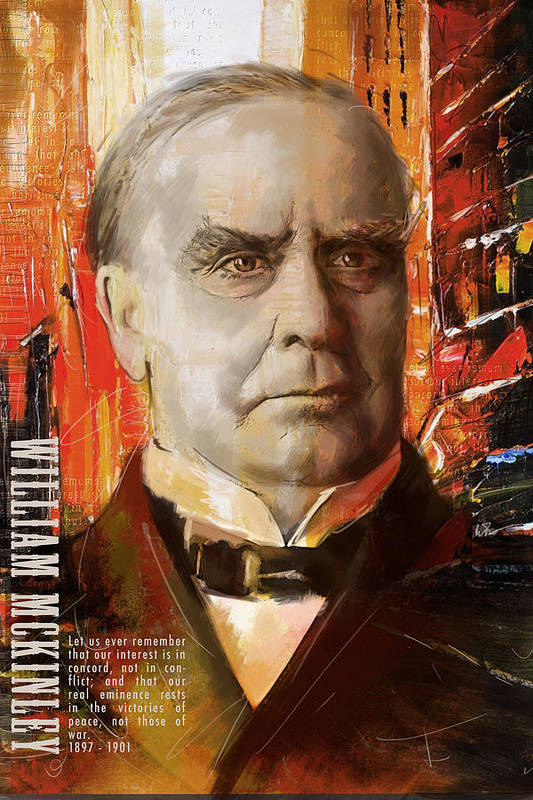 William Mckinley Poster featuring the painting William Mckinley by Corporate Art Task Force
