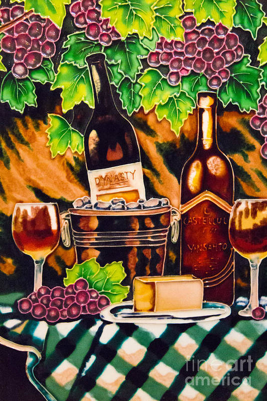 Arrangement Poster featuring the photograph Wine by Angelika Bentin