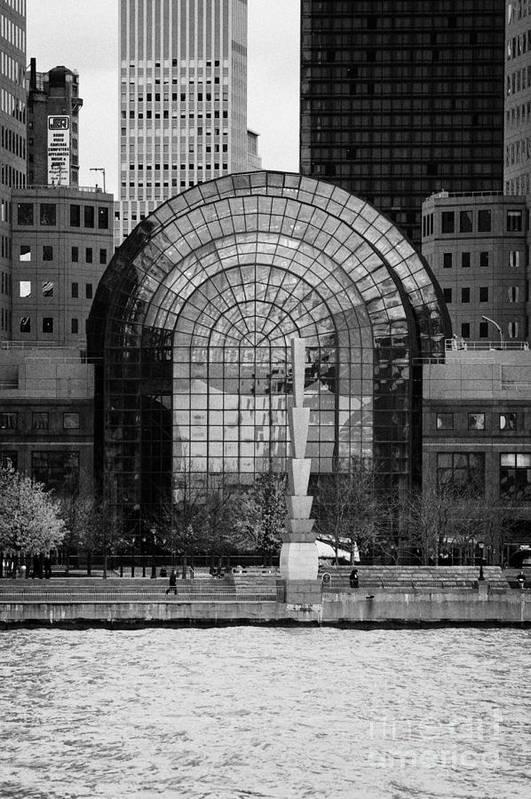 Usa Poster featuring the photograph Winter Garden At World Trade Financial Center New York City by Joe Fox