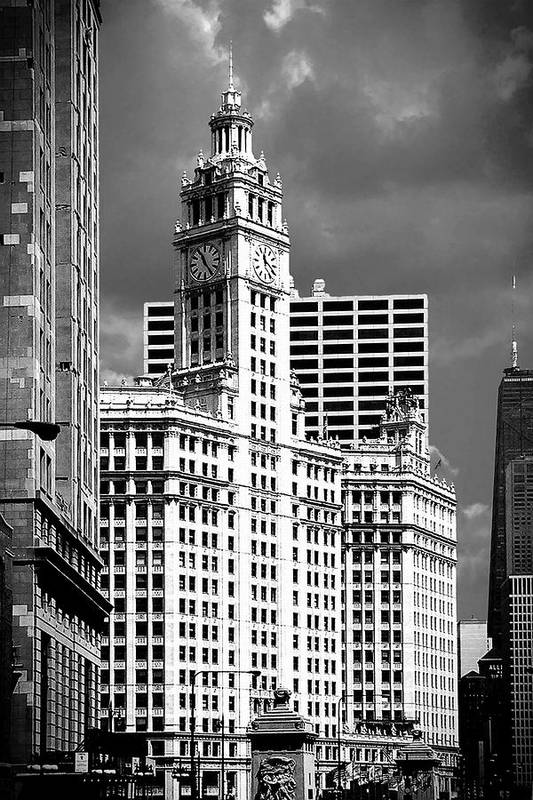 Skyscrapers Poster featuring the photograph Wrigley Building Chicago Illinois by Christine Till
